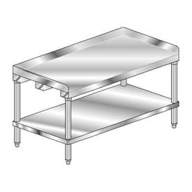 "Aero Manufacturing 2EG-2484 84""W x 24""D Equipment Stand with Galvanized Undershelf"