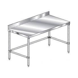 "Aero Manufacturing 2TGBX-2496 96""W x 24""D Stainless Steel Workbench 4"" Backsplash Galv."