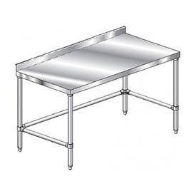 "Aero Manufacturing 2TSSX-2472 72""W x 24""D Stainless Steel Workbench, 2-3/4"" Backsplash"
