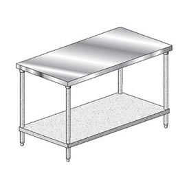 """Aero Manufacturing 3TG-3060 Stainless Steel Workbench - 60""""W x 30""""D Deluxe Flat Top Workbench"""