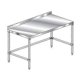 "Aero Manufacturing 3TGSX-3060 60""W x 30""D Stainless Steel Workbench with 2-3/4"" Backsplash"