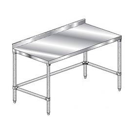 "Aero Manufacturing 3TGSX-36144 144""W x 36""D Stainless Steel Workbench with 2-3/4"" Backsplash"