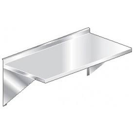 """Aero Manufacturing 3TWMS-3060 60""""W x 30""""D Wall Mount Table with 2-1/4"""" Backsplash"""