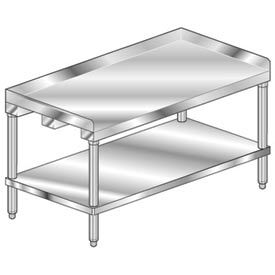 """Aero Manufacturing 4ES-2448 48""""W x 24""""D Equipment Stand with Stainless Undershelf- Pkg Qty 1"""