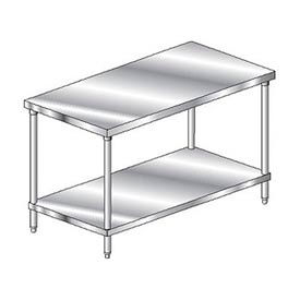 "Aero Manufacturing 4TS-2448 48""W x 24""D Economy Flat Top Stainless Steel Workbench w/ Undershelf"