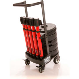 """Banner Stakes PLUS Cart Package, Red """"Danger High Voltage Keep Out"""" Banner"""