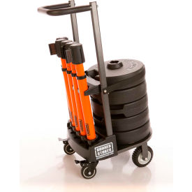 "Banner Stakes PLUS Cart Package, Orange ""Danger - Forklift Traffic"" Banner"