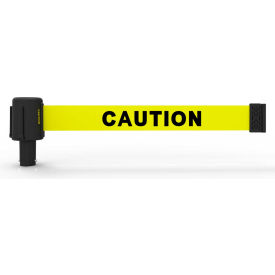 """Banner Stakes PLUS Banner Head, 15' Banner, Yellow """"Caution"""" Banner"""