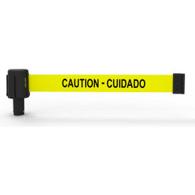 "Banner Stakes PLUS Banner Head, 15' Banner, Yellow ""Caution-Cuidado"" Banner"