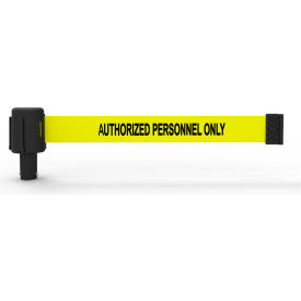 """Banner Stakes PLUS Banner Head, 15' Banner, Yellow """"Authorized Personnel Only"""" Banner, 5/PK"""