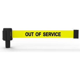 "Banner Stakes PLUS Banner Head, 15' Banner, Yellow ""Out of Service"" Banner"