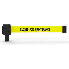 "Banner Stakes PLUS Banner Head, 15' Banner, Yellow ""Closed for Maintenance"" Banner"