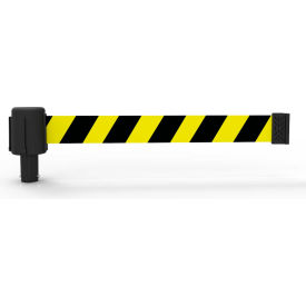 Banner Stakes PLUS Banner Head, 15' Banner, Yellow/Black Diag Stripe Banner, 5/PK