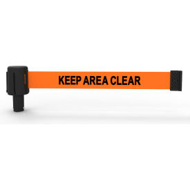 "Banner Stakes PLUS Banner Head, 15' Banner, Orange ""Keep Area Clear"" Banner"