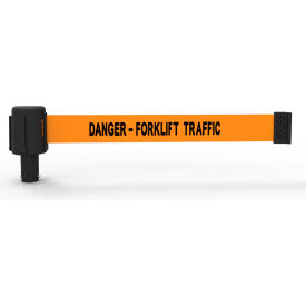 "Banner Stakes PLUS Banner Head, 15' Banner, Orange ""Danger - Forklift Traffic"" Banner, 5/PK"