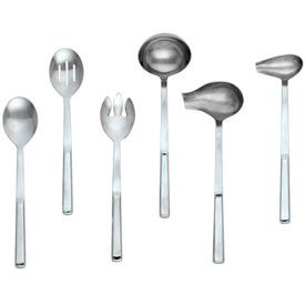 Alegacy 112 - Silvercrest™ Slotted Stainless Steel Serving Spoon - Pkg Qty 12
