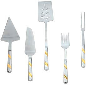 Alegacy 121PFGD - Goldcrest™ Stainless Steel Pot Fork, Gold Trim - Pkg Qty 12