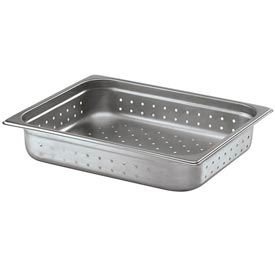 Alegacy 22124P - 7 Qt. Half Size Steam Table Pan Perforated Anti Jam, 22 Ga. - Pkg Qty 6
