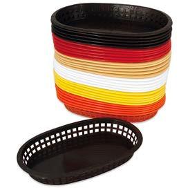 Alegacy 499FY - Flexible Oval Fast Food Basket, Yellow - Pkg Qty 3