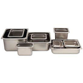 Alegacy 55144 - 3 Qt. 1/4 Size Steam Table Pan Anti-Jam, 25 Ga. - Pkg Qty 12