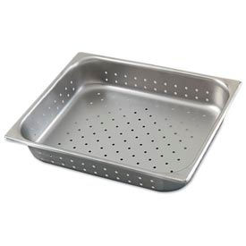 Alegacy 8002P - Full Size Perforated Steam Table Pan, Stainless Steel, 24 Gauge, 8-1/2 Qt. - Pkg Qty 6