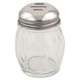 Alegacy 803X - 6 Oz. Cheese Shaker, Slotted Top Swirl Glass 36 Pack - Pkg Qty 3