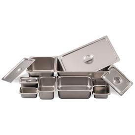 Alegacy 8126 - 11 Qt. 1/2 Size Steam Table Pan, 24 Ga. - Pkg Qty 6
