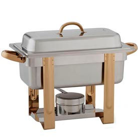 """Alegacy AL320GA - The Original Six In One Stainless Steel Chafer with Gold Trim 1/3""""x 2"""""""