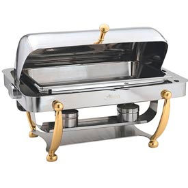 Alegacy AL510A - Full, Size Dome Cover Savoir™ Chafer With Brass Legs
