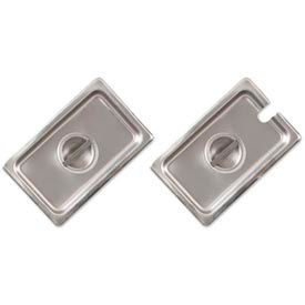 Alegacy CP8142 - 1/4 Size Flat Solid Cover For Steam Table Pan, 24 Ga. - Pkg Qty 12