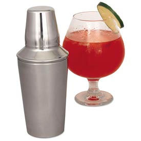 Alegacy CS377WC - 30 Oz. Cocktail Shaker With Cover And Strainer - Pkg Qty 12
