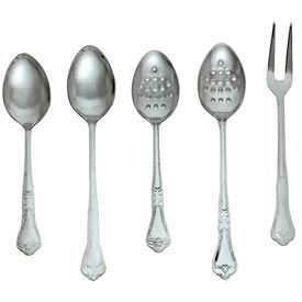 """Alegacy DSP11P - Barocco Serving Spoon, Perforated, 11"""" - Pkg Qty 12"""
