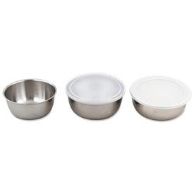 "Alegacy MB3 - 3 Qt. Stainless Steel Mixing Bowl 8-1/2"" Dia. - Pkg Qty 12"