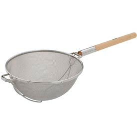 "Alegacy S9250 - Stainless Steel Double Mesh Strainer, 14"" Heavy Duty - Pkg Qty 6"
