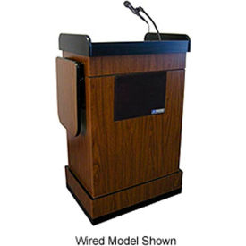 Wireless Multimedia Computer Podium / Lectern - Walnut- Pkg Qty 1