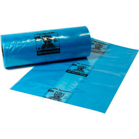 """Armor Defender VCI Bags 34""""W x 33""""D x 65""""H 4 Mil Blue 50 Pack"""