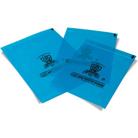 """Armor Poly VCI Resealable Bags 4""""W x 6""""H 4 Mil Blue 2,000 Pack"""
