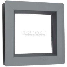 """Steel Low Profile Beveled Slimline Vision Lite VSL1212G, 12"""" X 12"""", Gray Primered"""