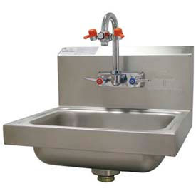 """Hand Sink With Eye Wash Faucet, 17-1/4""""L x 15-1/4""""W x 13""""H Overall"""