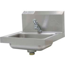 """Wall Mounted Hand Sink, H.A.C.C.P. Compliant, 17-1/4""""L x 15-1/4""""W x 13""""H Overall"""
