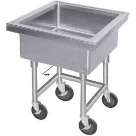 """Mobile Soak Sink, 12"""" Deep Bowl, 34"""" Overall Height"""