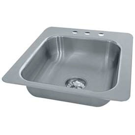 Smart Series Drop In Sink, One Compartment 14L x 10W x 10D Bowl, 18 Gauge