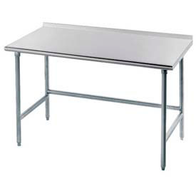 "Advance Tabco TFLG-307 84""W x Work Table With Galvanized Legs, Side & Rear Crossrails"