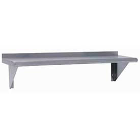 """Advance Tabco WS-12-72 72"""" W x 12""""D Shelf,  Wall-Mounted, Stainless Steel"""