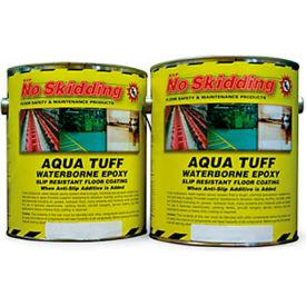 No Skidding 174 Aqua Tuff Waterborne Epoxy Floor Coating Grey