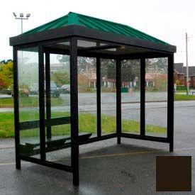 Heavy Duty Bus fumer abri toit en croupe 4 côtés ouverts avant gauche/droite 5' x 12' Dark Bronze toit
