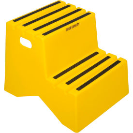 "2 Step Plastic Step Stand - Yellow 18-1/4""W x 24-1/2""D x 19-1/2""H - ST217-14"