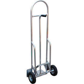 High-Back Aluminum Hand Truck with Push-Out Nose Plate HBST-500