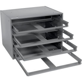 Durham Slide Rack 303-95 - For Large Compartment Storage Boxes - Fits Four Boxes