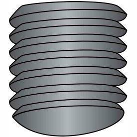 "Socket Set Screw - 8-32 x 1/4"" - Oval Point - Steel Alloy - Thermal Black Oxide - UNC - 100 Pk"